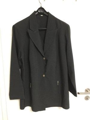 Jersey blazer donkergrijs