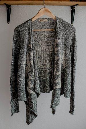 Hollister Cardigan en crochet gris-blanc cassé coton