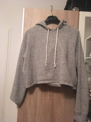 H&M Hooded Sweater white-grey
