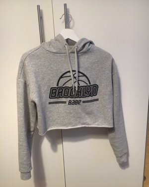 Grauer Cropped Hoodie