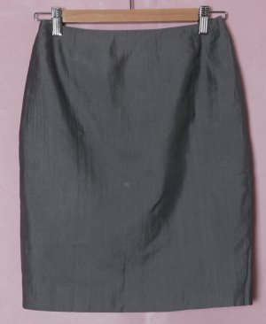 Review High Waist Skirt anthracite-grey cotton