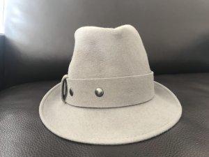 Seeberger Chapeau en feutre gris clair