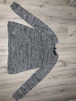 Takko Long Sweater grey-white