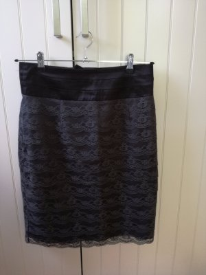 H&M Lace Skirt anthracite-black polyamide
