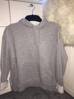 H&M Divided Hooded Sweater light grey-silver-colored