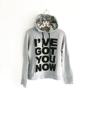 grauer hoodie / vintage / boho / edgy / sweat shirt