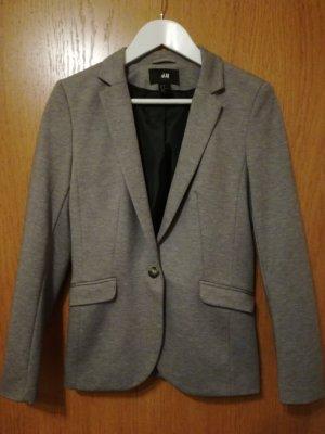 grauer Jersey-Blazer