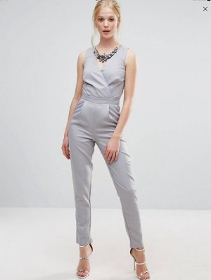 Grauer Jumpsuit von Little Mistress