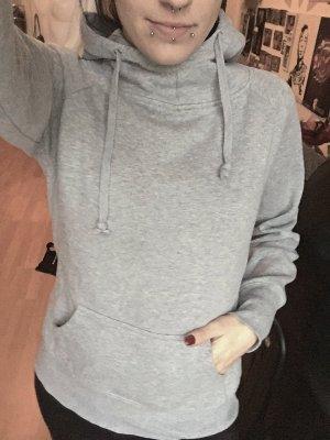 Grauer Kapuzen Hoodie Pullover S/M