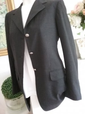 Blazer de lana gris oscuro