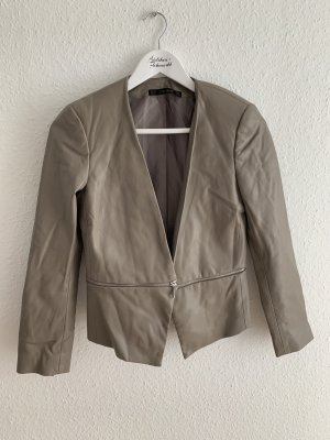 Zara Basic Leather Blazer grey