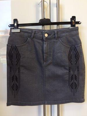 H&M Denim Skirt dark grey cotton