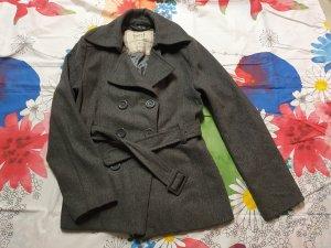 QED London Abrigo corto gris Lana