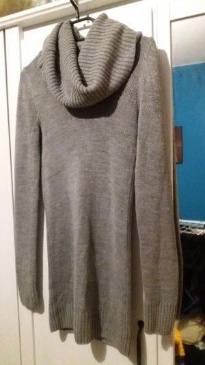 H&M Long Sweater silver-colored