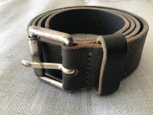 Hüftgold Cintura di pelle grigio scuro Pelle