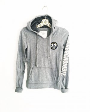 grauer longsleeve hoodie / abercrombie & fitch