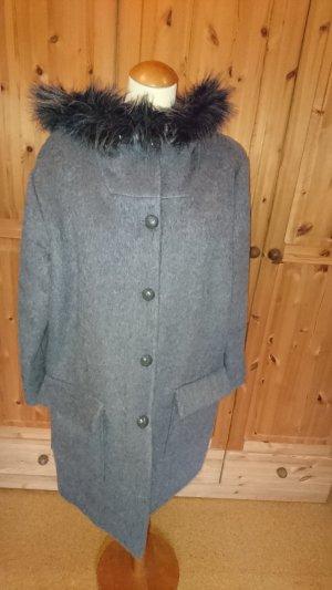 Manteau à capuche noir-gris
