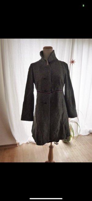 0039 Italy Manteau en laine gris foncé laine vierge