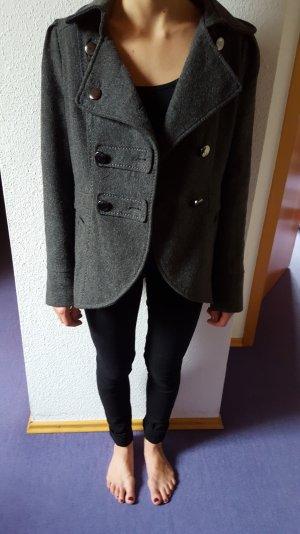 grauer Mantel aus Wollmischung, H&M