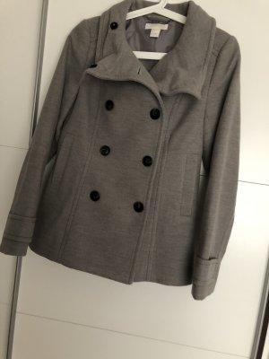grauer Mantel mit Knopfleiste gr. 36