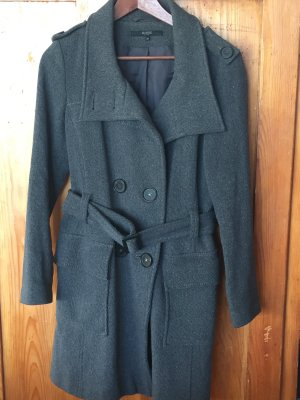 Hallhuber Between-Seasons-Coat grey mixture fibre