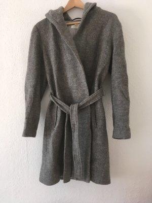H&M L.O.G.G. Cappotto con cappuccio grigio
