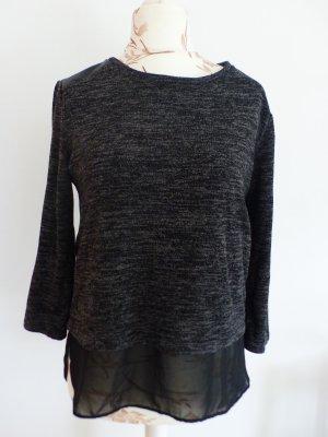 s.Oliver Short Sleeve Sweater grey-black
