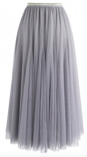 Chicwish Falda de tul gris pizarra-gris