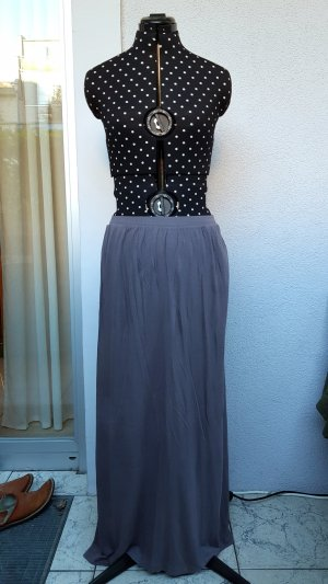 H&M Jupe longue gris coton