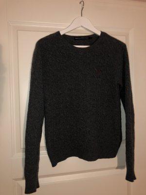 Grauer Merinowolle Pullover von Ralph Lauren