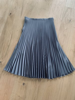Hallhuber Pleated Skirt silver-colored polyester