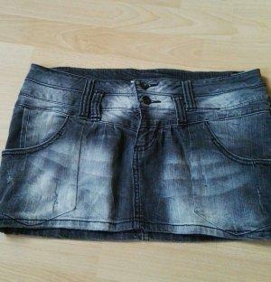 grauer Mini Jeansrock von Zara