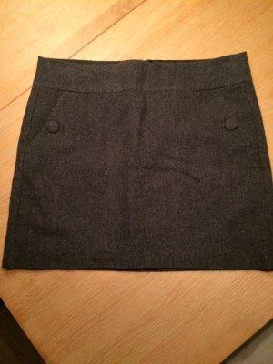 Grauer Minirock aus Wolle von Esprit