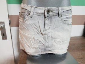 Grauer Minirock Jeansoptik