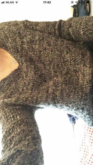 Only Grof gebreide trui donkergrijs-grijs