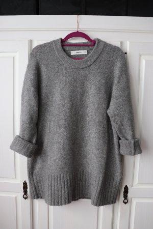 Zara Pull oversize gris-gris clair