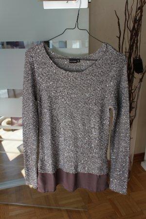 Bodyflirt Kraagloze sweater grijs