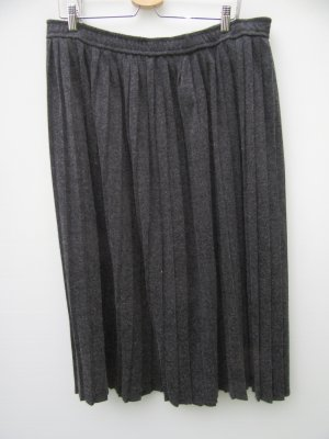 Vintage Falda a cuadros gris antracita