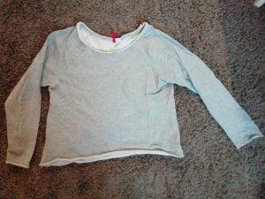H&M Divided Camisa recortada gris claro-gris