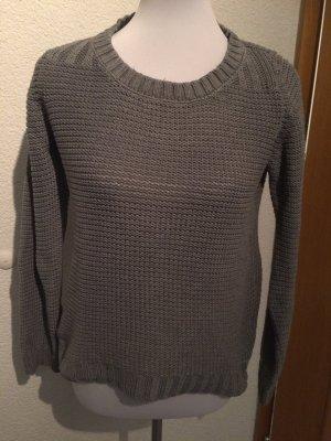 grauer Pulli / Pullover mit Lochmuster von Best Connections B.C. - Gr. 38