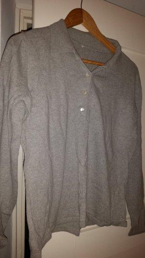 Norwegian Sweater light grey-silver-colored mixture fibre