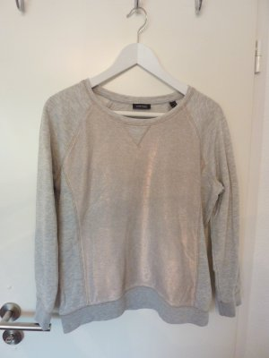 Grauer Pullover in Metallic-Design