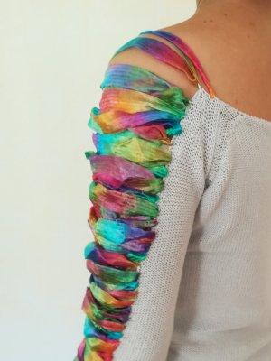 Grauer Pullover mit bunten Details von Emporio Armani