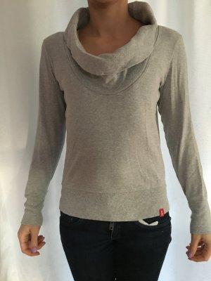 grauer Pullover mit Kragen Gr XS edc