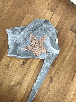 Poolgirl Jersey con cuello de pico gris-salmón