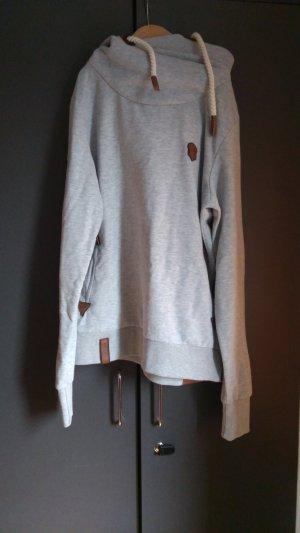 Naketano Capuchon sweater grijs-lichtgrijs Gemengd weefsel