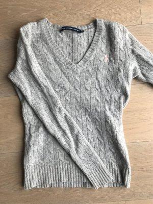 Grauer Pullover Ralph Lauren Sport Größe S