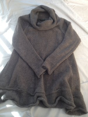 Long Sweater grey-silver-colored mohair