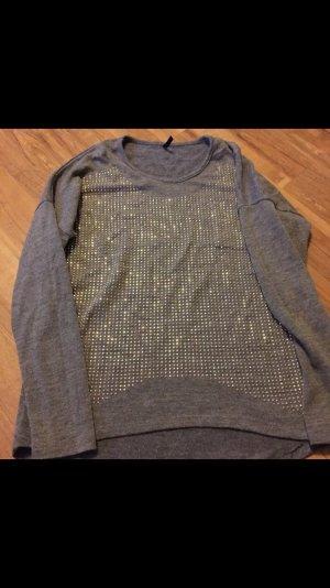 grauer pullover von zara