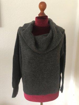 H&M Pull-over à col roulé gris anthracite-gris foncé